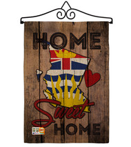 Canada Provinces British Columbia Home Sweet Burlap - Impressions Decora... - $33.97