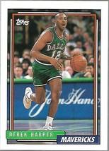 1992-93 TOPPS BASKETBALL-#93-Derek Harper-Mavericks-Guard - $3.96