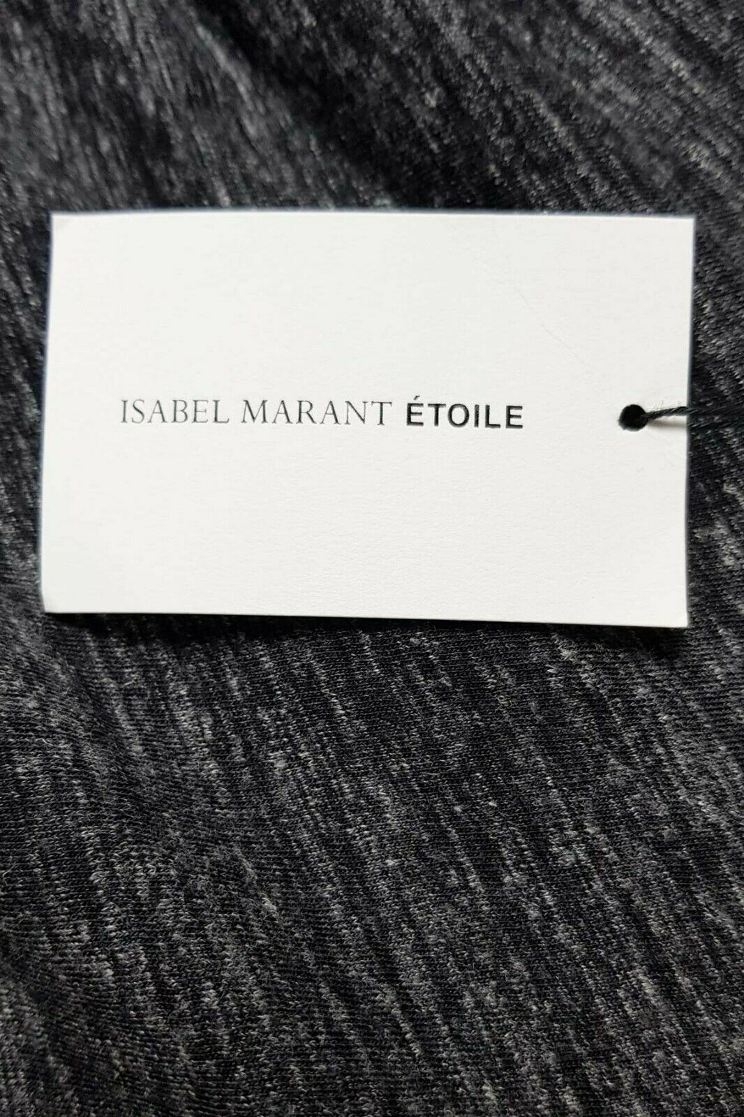 Isabel Marant Etoile grey Malo top with side ruffle