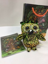 The Owls of the Enchanted Forest Book Gift Set Stuffed Green Yellow Owl - $6.68