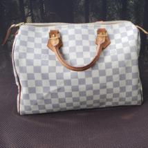 Auth Louis Vuitton Speedy 30 Bag in Damier Azur Canvas  - $520.00