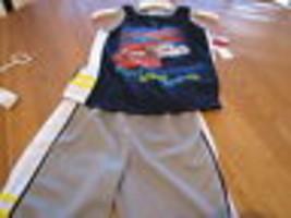 Bambino Disney cars 2 PC Set Pantaloncini Camicia senza Maniche Ragazzi 4 Active - $15.45