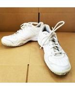 Nike City Court 6 Girls 5.5Y Tennis Walking Shoes White Leather EUC - £16.11 GBP