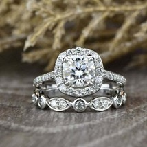 2.67 Ct Round Cut Canter 8 mm Lab Diamond Engagement Ring 925 Sterling S... - $91.34