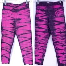 Nux Tie Dye Sz S Seamless Capri Leggings Cropped Yoga Leggings - $34.60