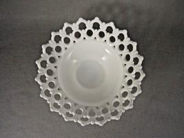 Westmorland Glass  Bowl  Pedestal  Milk  Doric Lace - $57.92