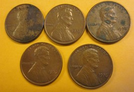 1976 Lincoln Memorial Pennies 5 Pieces #1 - $3.50