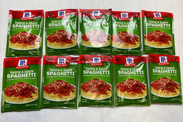 10 X McCormick Thick And Zesty Spaghetti Sauce Mix 1.37 oz Exp June 2022 - $49.99