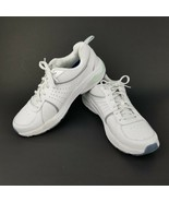 Dr. Scholl's Women's Bound White Gray Leather Athletic Running Shoes Siz... - $40.17