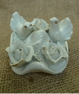 Old Decor Porcelain Doves roses Pigeons Dove Pigeon Figurine Collectible... - $20.00