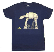 Star Wars  Banana Peel Trap AT-AT T-Shirt New - $12.99