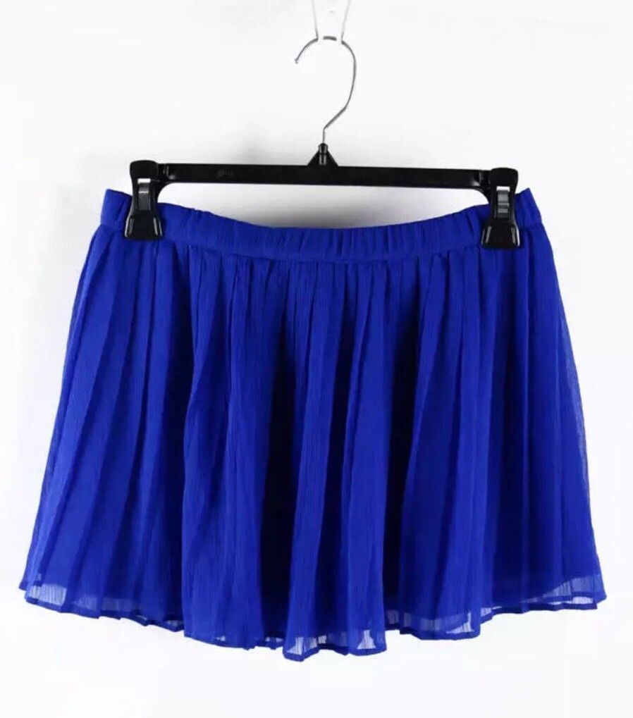 Hollister Zaffre Blue Acordion Pleated Mini Skirt Size Small