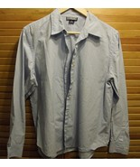 WOMENS DRESS SHIRT Size 14 LANDS END Petite Blue LONG SLEEVE BUTTON DOWN... - $24.74