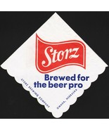 Vintage napkin STORZ for the beer pro Storz Brewing Omaha Nebraska unuse... - $6.99