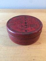 Vintage 40s Pecard Shoe Dressing tin packaging (mostly full) image 4