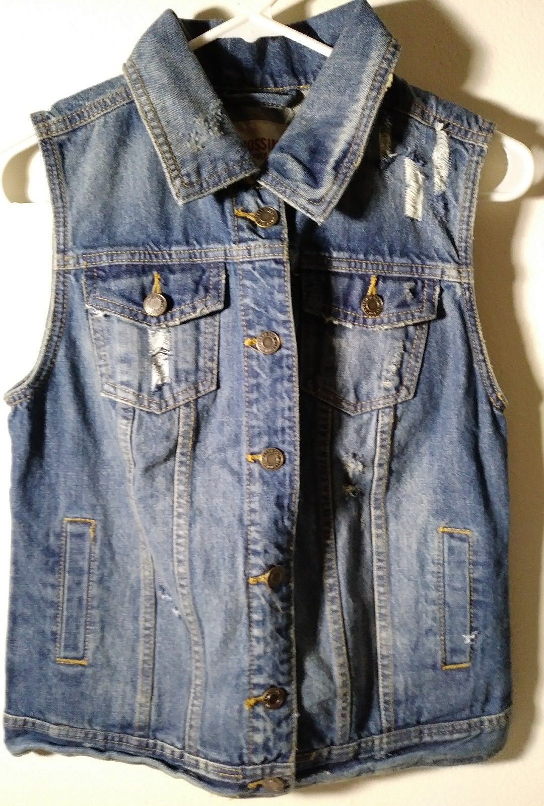 62d3d7a6c9 S l1600. S l1600. Previous. Mossimo Supply Co Juniors Jean Jacket Denim  Sleeveless ...