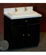 1 Pcs Kitchen Sink Cabinet Dollhouse Miniature Wood 1:12 one inch scale ... - $56.00