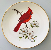 Red Cardinal Decorative Plate Bird Illustration by Don Eckelberry Avon 1974 - $12.59