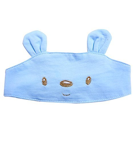 Summer Baby Hats/Caps Infant Bald Head Cotton Hats Blue Bear