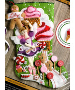 Bucilla Sugarland Fairy Candy Cookie Ballerina Christmas Felt Stocking K... - $39.95
