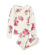NWT The Childrens Place Floral Sleeping Beauty Girl Long Sleeve Pajamas Set - $10.99