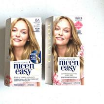 Set of 2 Clairol Nice'n Easy Permanent Hair Dye 8A Medium Ash Blonde NEW - $19.78