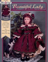 "Fibre Craft FCM476 BEAUTIFUL LADY Crochet Pattern 4Piece Outfit 23"" Doll Clothes - $5.44"