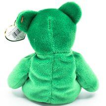 1997 Ty Beanie Baby Original Erin Lucky Shamrock Teddy Bear Beanbag Plush Toy image 3