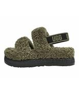 UGG Oh Fluffita Women's Burnt Olive Sheepskin Slipper Slide Sandals 1120876 - $96.00
