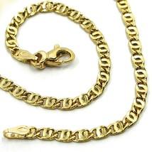 "18K YELLOW GOLD CHAIN WAVY TYGER EYE LINKS 2.8mm, 0.11"" LENGTH 45cm, 17.7"" image 1"
