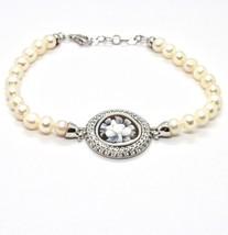 Silber Armband 925 mit Perlen von Wasser Dolce Kamee Kamee Zirkonia Kubi... - $220.41