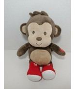 Carters Just one you baby plush monkey red  boots I Love you heart brown tan  - $29.69