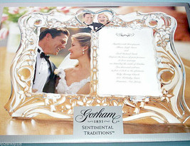 Gorham Sentimental Traditions Double Invitation One Heart Photo Frame 5x... - $86.90