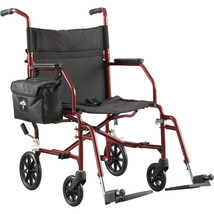 """Steel Medical Transport Mobility Aid Wheelchair with 19"""" Wide Seat FSA B... - $177.77"""