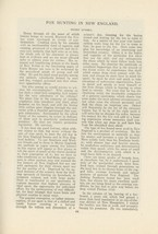1903 Fox Hunting in New England Foxes Massachusetts Hounds Dogs - $10.00