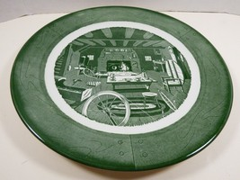 """VTG by Royal China Colonial Homestead green 12.25"""" Plate charger serving platter - $27.72"""
