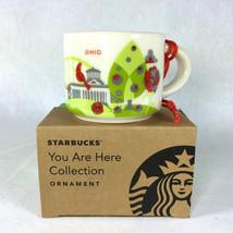 Starbucks Ohio You Are Here YAH Christmas ORNAMENT 2 oz Ceramic Mini Mug... - $29.39