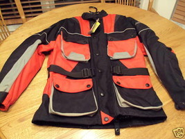Men's motorcycle jacket AGVsport shock absorbing NWT small NEW - $72.74