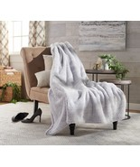 """Berkshire Blanket 60"""" x 80"""" Frosted Tipped Shearling Throw-Bright SILVER - $9.89"""