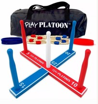 Play Platoon Ring Toss Game Set - Includes 8 Rope 8 Plastic Rings Carryi... - $18.99