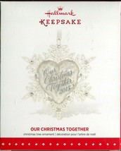 2015 Hallmark Keepsake Ornament - Our Christmas Together - Metal & Glass - $8.90