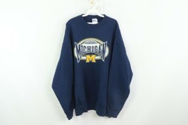 Vintage 90s Pro Player Mens 2XL University of Michigan Spell Out Sweatsh... - $34.60