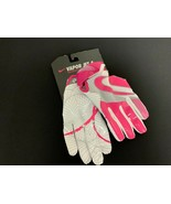 Nike Vapor Jet 4 Breast Cancer Pink & White Football Gloves Youth S #119G - $18.80