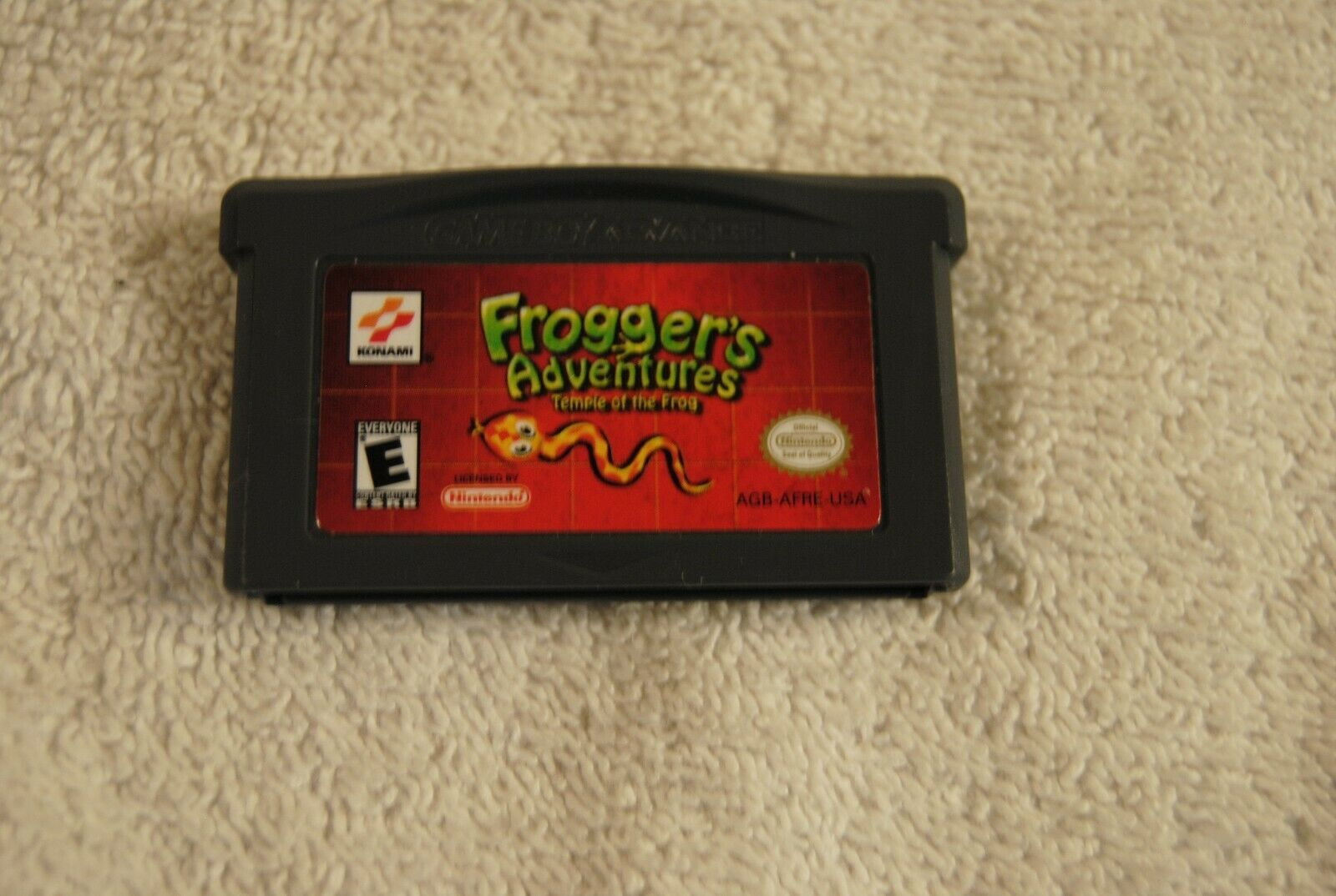 FROGGER'S ADVENTURES: TEMPLE OF THE FROG NINTENDO GAMEBOY ADVANCE GAME BOY