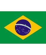Brazilian Flag vinyl sticker 120mm x 80mm car decals window bumper Brazil - $2.91+
