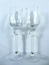 Pair Crystal Clear Cordial Aperitif Liqueur Glasses 2 Ounce Puffy Balust... - $19.80