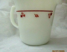 """Vintage Pyrex Love White Red Creamer  3.5""""  No Issues - $12.86"""