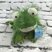 Webkinz Ganz Frog Plush Green Sitting Shaggy Stuffed Animal Soft Toy Toad - $7.91