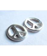 Peace Symbol Stud Earrings 925 Sterling Silver Corona Sun Jewelry Pacifist - $9.89