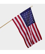 NEW Valley Forge 2.5' x 4' SEWN United States USA AMERICAN FLAG SET Pole... - $45.11